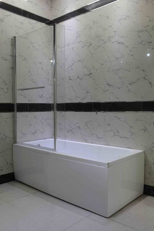 Bathroom Panel L Shaped Corner Bath Screen Shower Screen