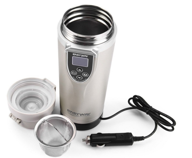 Stainless Steel Car Auto Heating Cup Adjustable Temperature Boiling Mug Electric Kettle Boiling