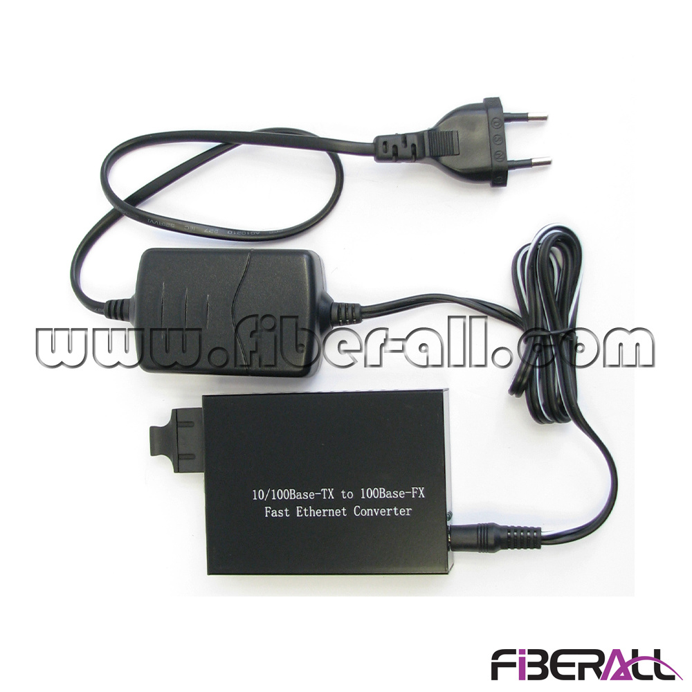 10/100m Fiber Optic Media Converter 1550nm 1X9 Sm 60km