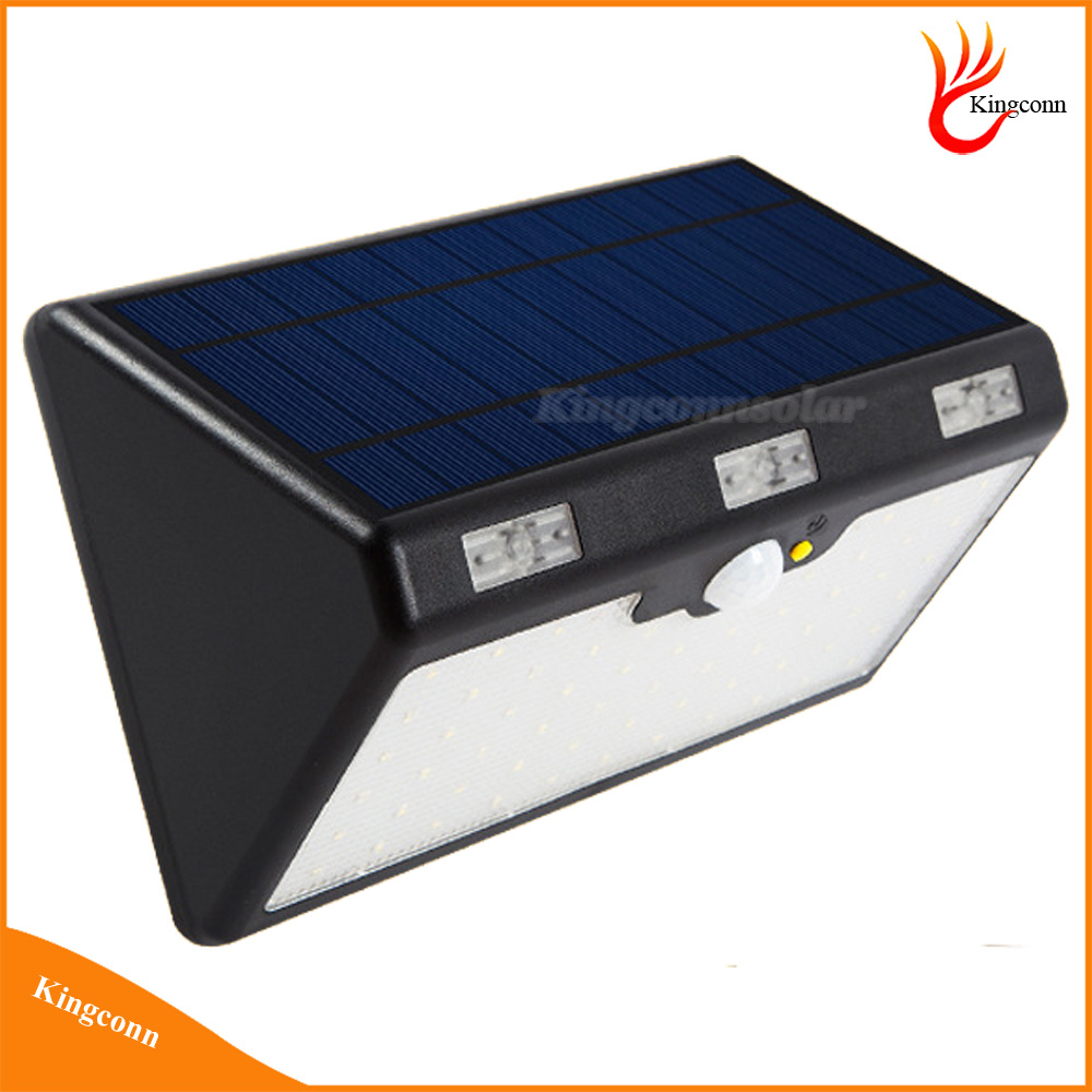 60LED Outdoor Solar Security Wall Lamp Solar Powered Motion Sensor Light