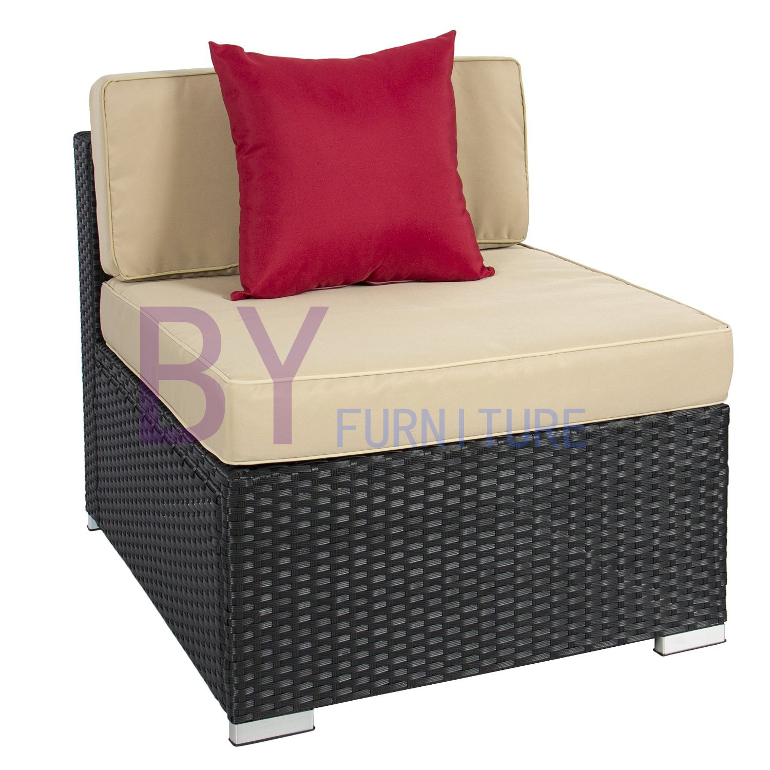 Outdoor Patio Wicker Rattan Sofa