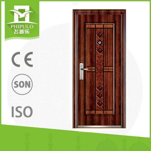 Chinese Security Safety Doors Design in Metal with Handle