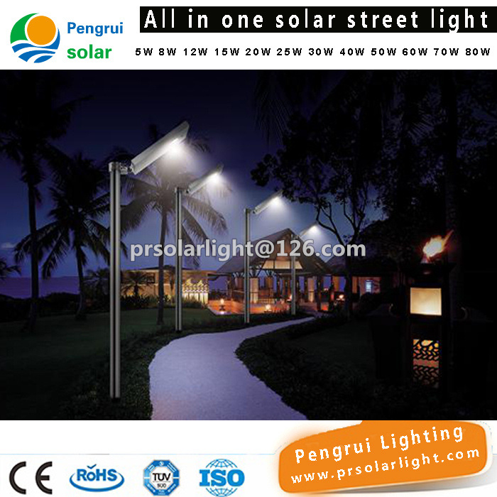 Energy Saving LED Sensor Solar Panel Powered Outdoor Wall 30W LED Street Light