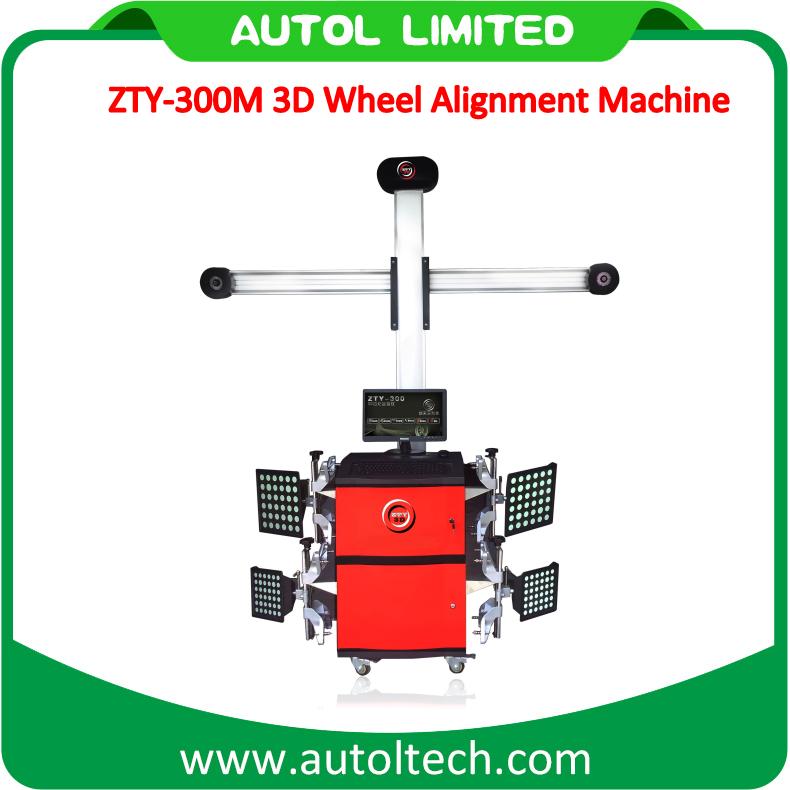 3D Camera Car Four Wheel Aligner Zty-300m, Automotive Equipment 3D Four Wheel Alignment
