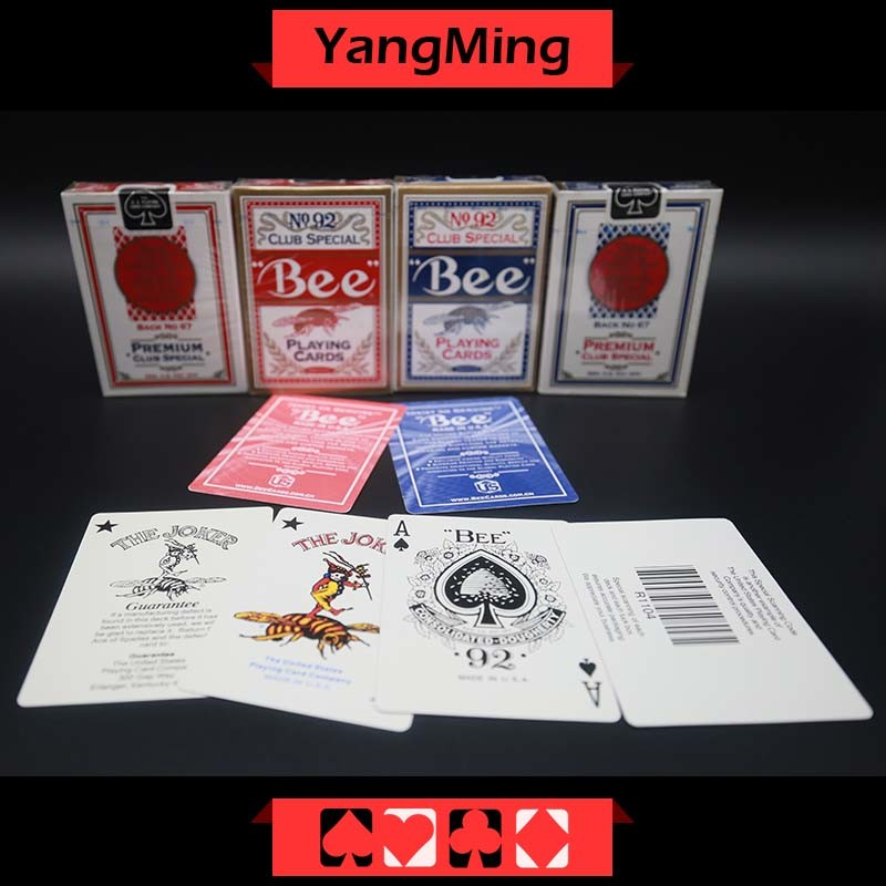 United States Bee Dedicated Casino Poker Playing Card for Casino Gambling Games with Red and Blue Color Ym-PC01