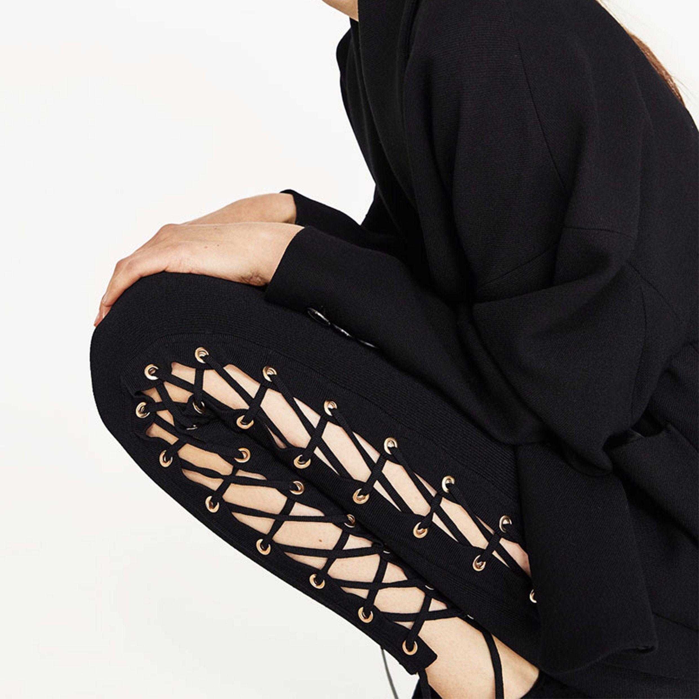 Ladies Fashion Sexy Bandage Jeggings Preppy Pants