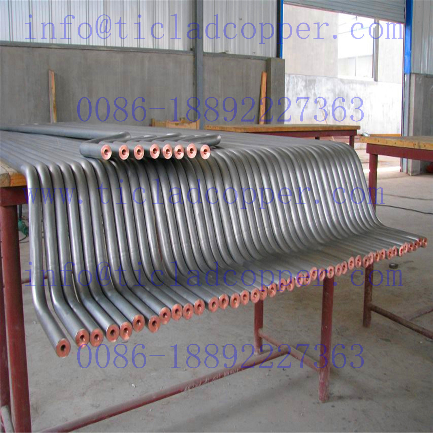 Titanium Clad Copper Pipe Tube for Electro-Purification/ Sea Water Treatment