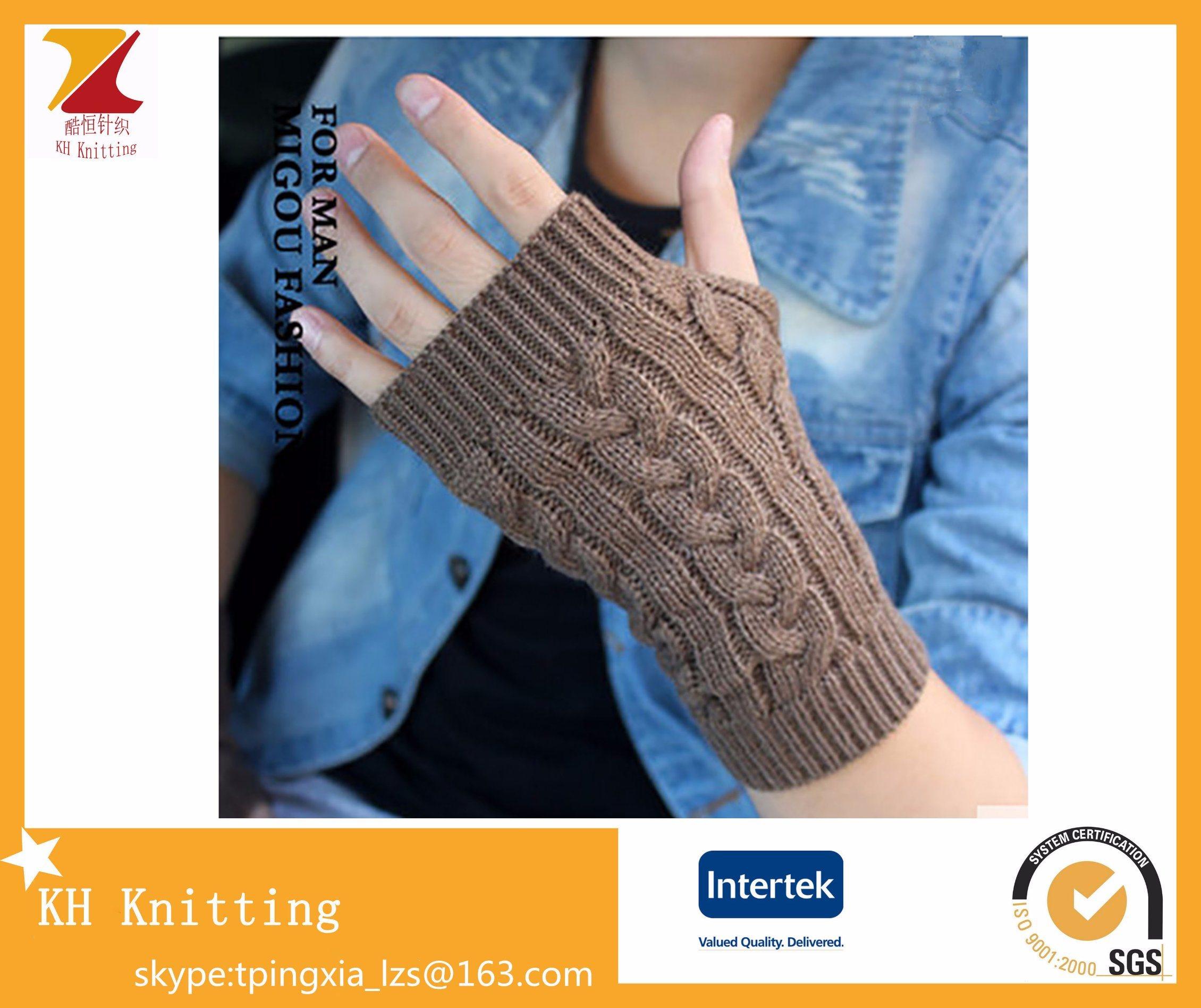 Winter Knitted Arm Sets Fingerless Gloves for Fake Sleeve