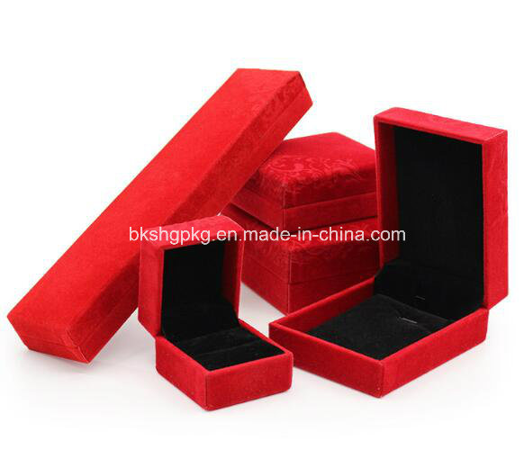 High-Grade Velvet Box Jewelry Box Jewelry Box Pendant Necklace Box Order Packing Box Wholesale Jewelry Box