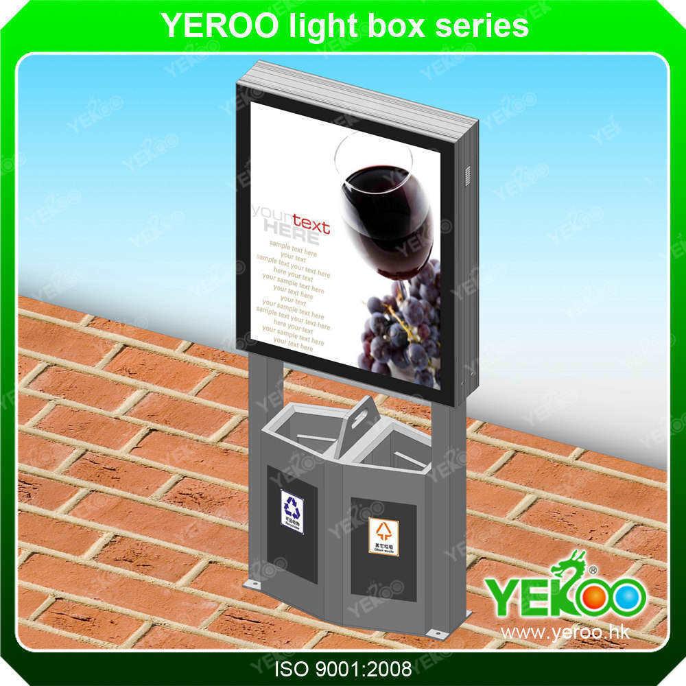 Aluminum Profile Mupi Signboard Light Box Advertising Light Box with Trash Can