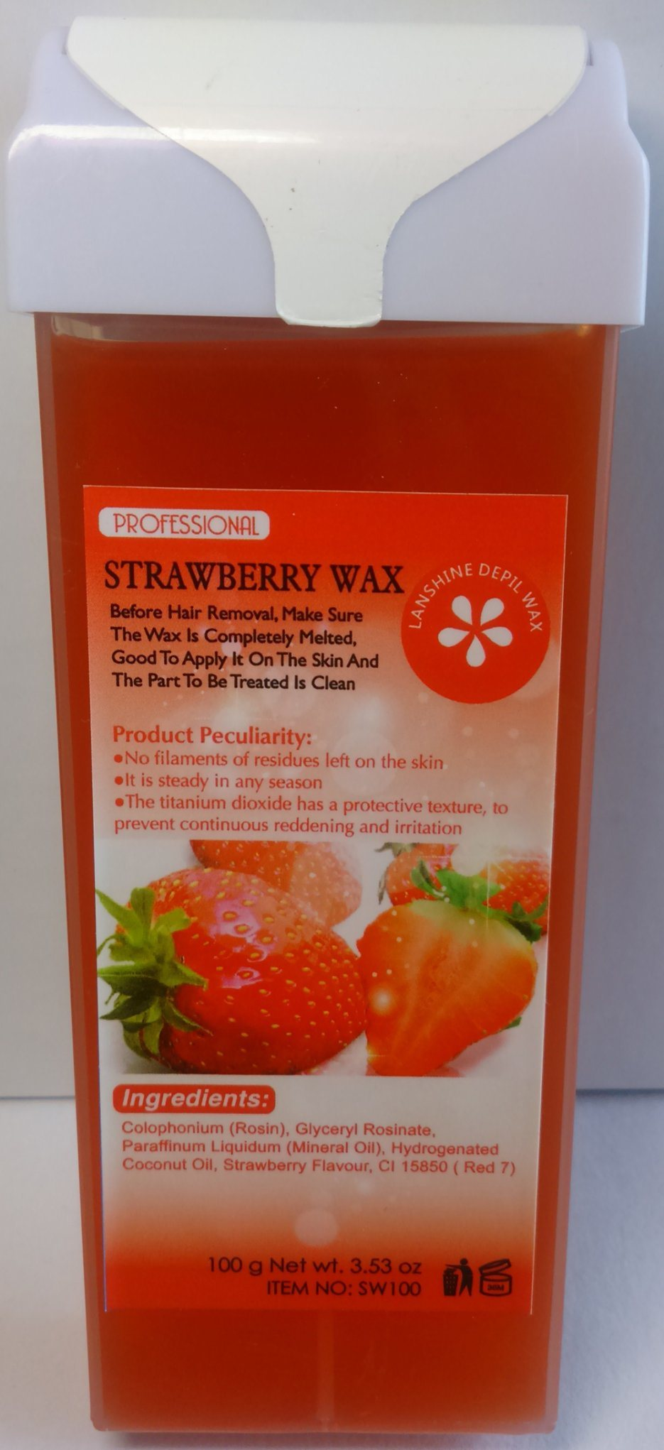 Roll-on Depilatory Wax Strawberry Wax