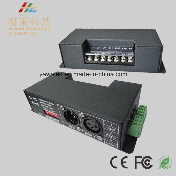 12-24VDC 6A*4CH DMX512 Decoder 15kHz at 256 Grey Steps or 8kHz at 4096 Grey Steps