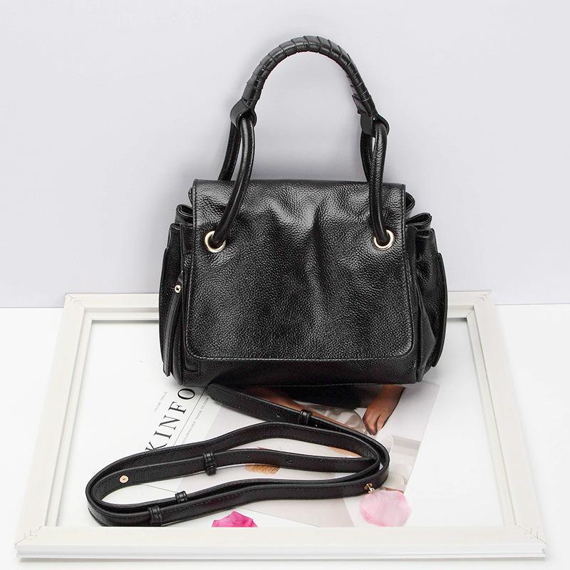 Dz042. Shoulder Bag Handbag Vintage Cow Leather Bag Handbags Ladies Bag Designer Handbags Fashion Bags Women Bag