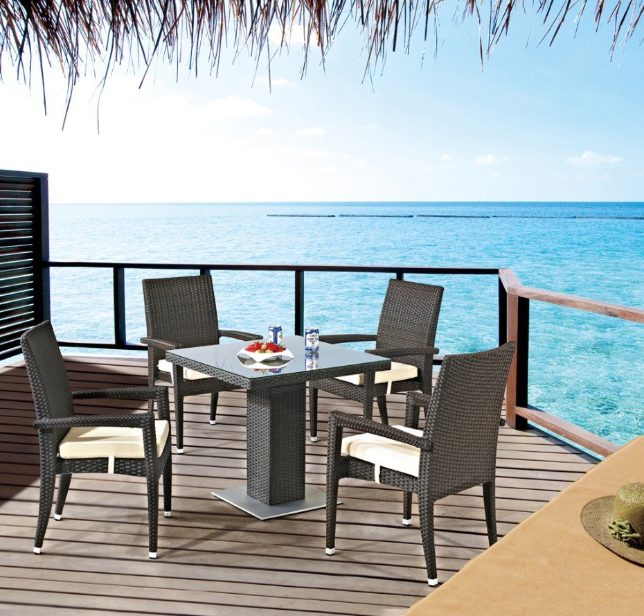 Garden Patio Wicker / Rattan Dining Set - Outdoor Furniture (LN-1011)