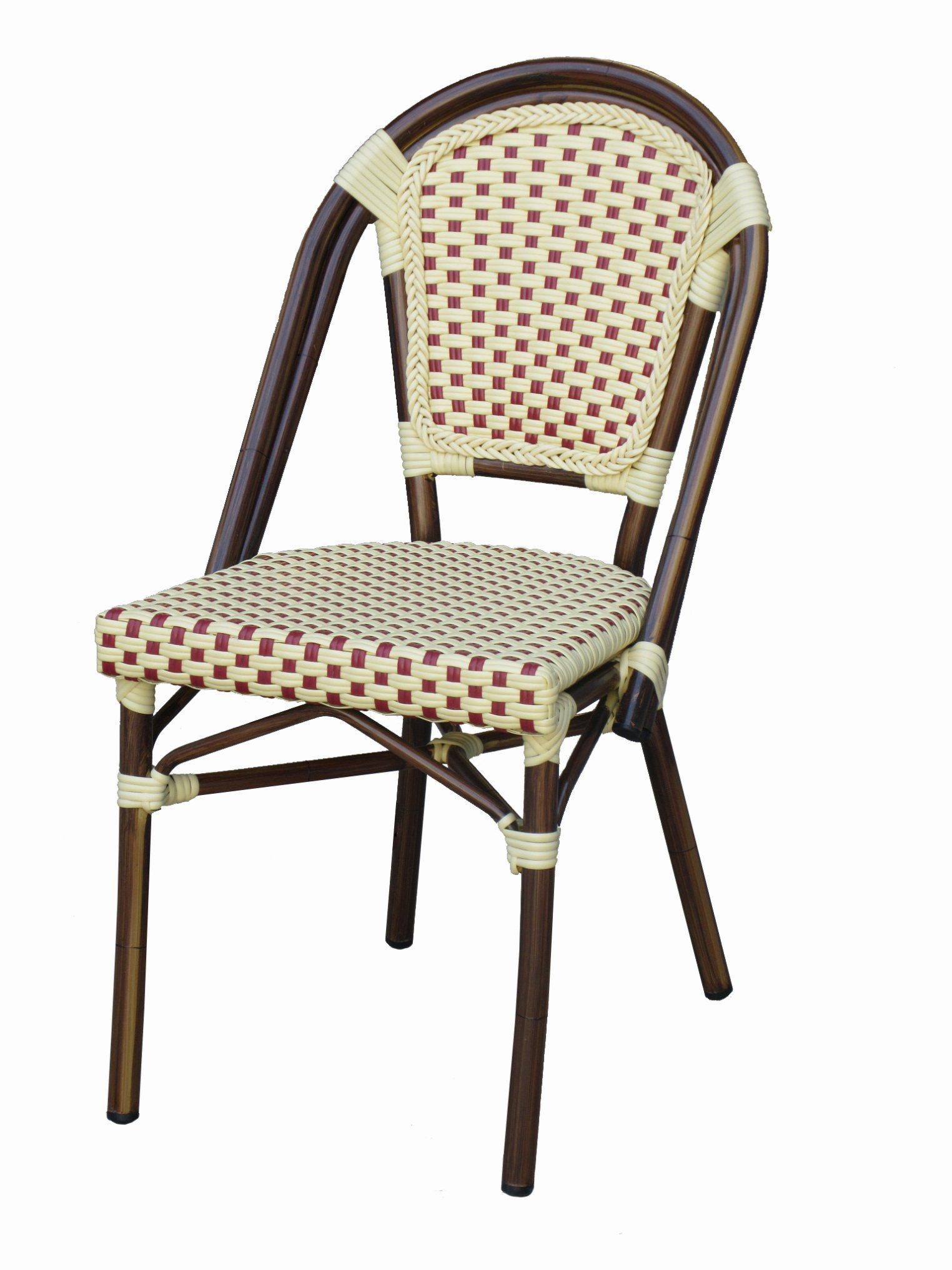 Bistro Chair Alum Wicker Chair Bamboo Look Restaurant Furniture