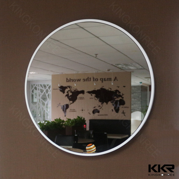Bathroom Accessories Hotel Decorative Acrylic Solid Surface Mirror Frame