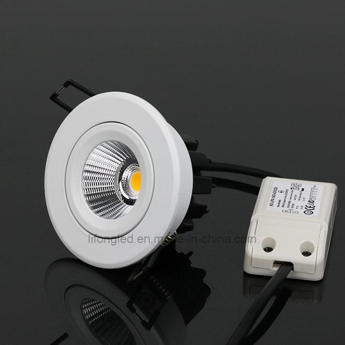 Top Recessed 7W 9W 12W LED COB Downlight