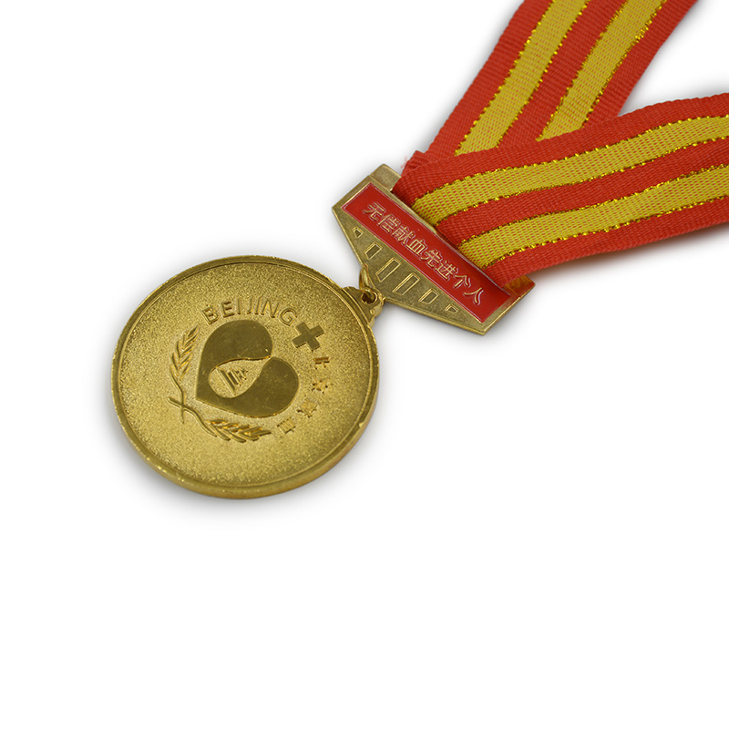 Round Shape Die Casting Gold Plated Memorial Medallion