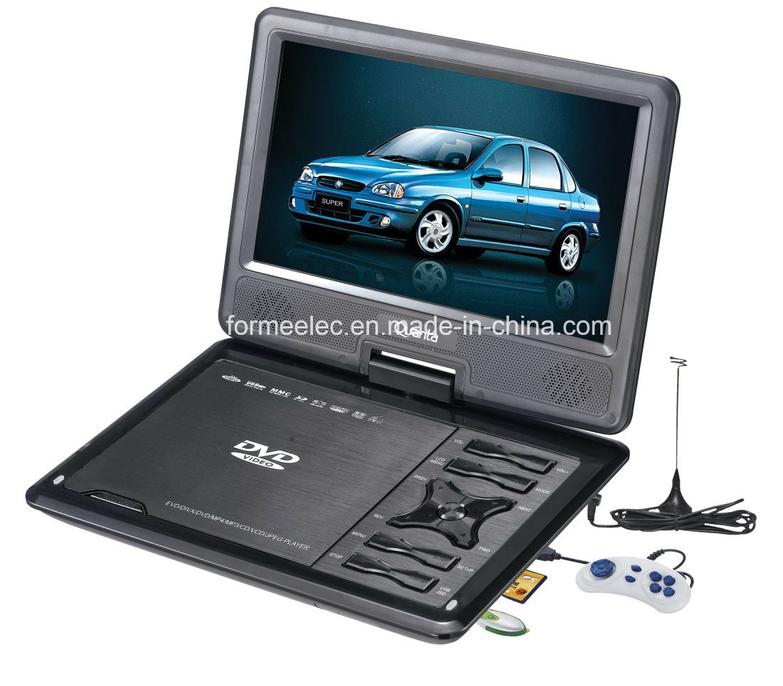 "9"" LCD Portable DVD Player with Analog TV Games"