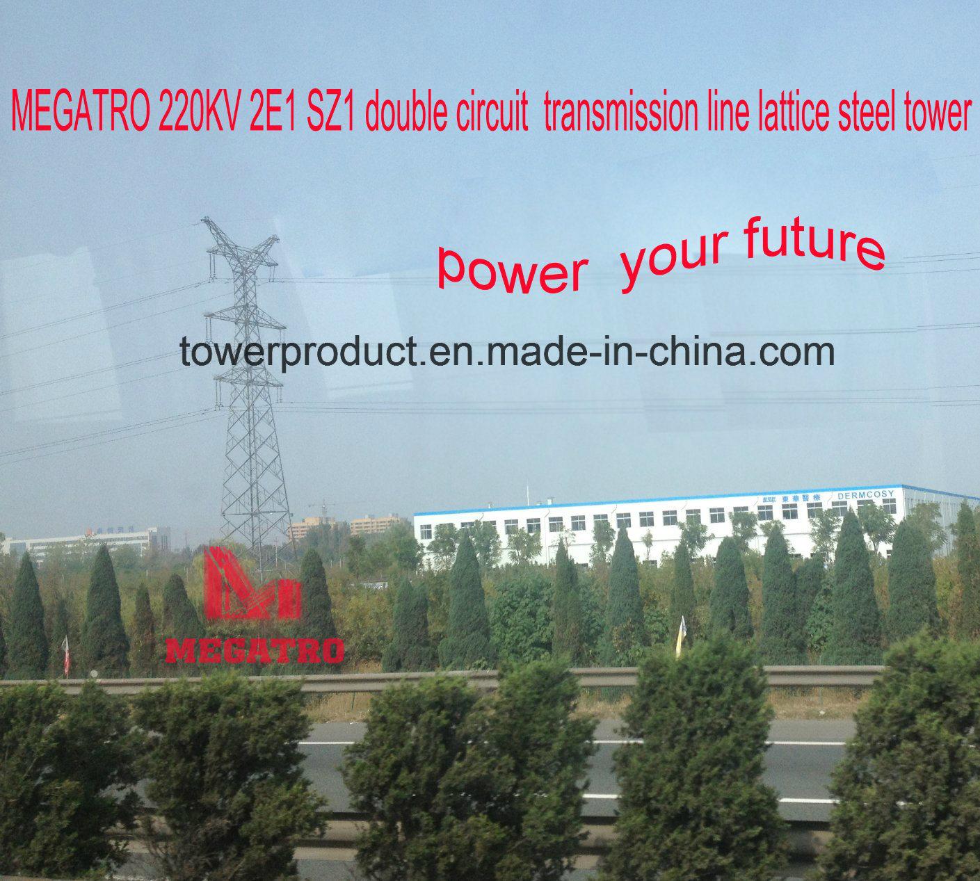 Megatro 220kv 2e1 Sz1 Double Circuit Suspension Transmission Tower