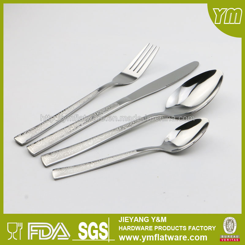 Hot Sell Stainless Steel Cutlery with Laser Patterns