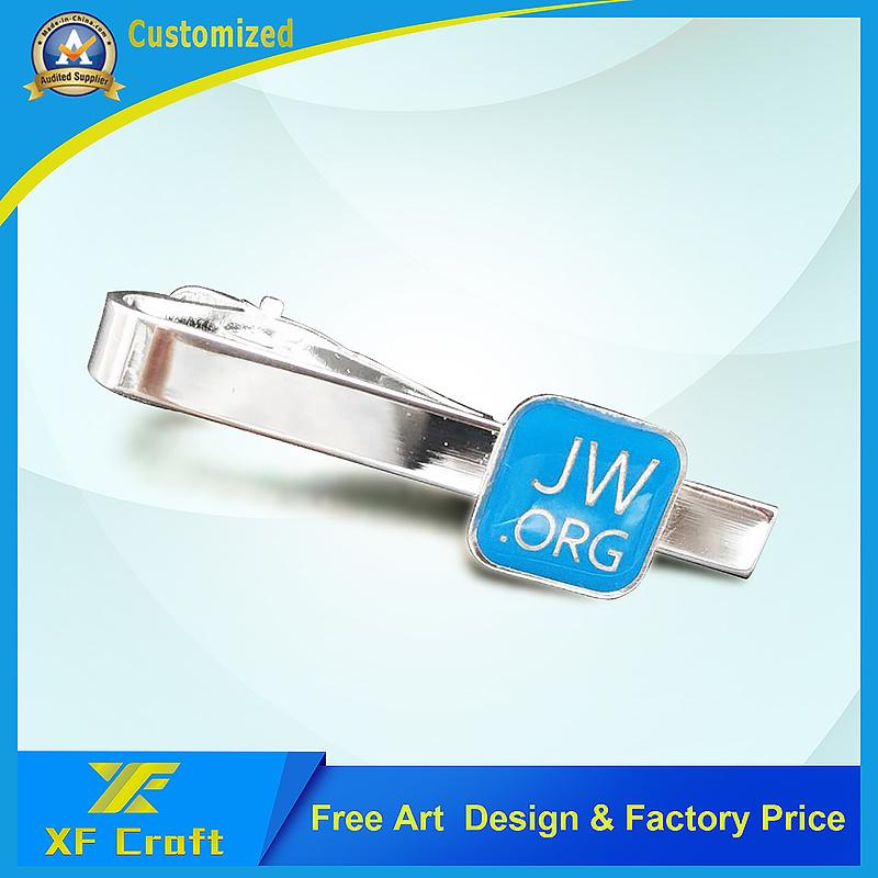 Professional Custom Fashion Metal/Iron/Enamel/Nickel Cufflinks and Tie Pin Set for Men (XF-CF03)