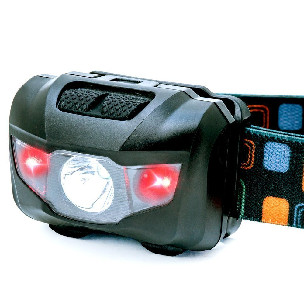 CREE Headlight with Red Strobe Head Light Lamp LED Headlamp