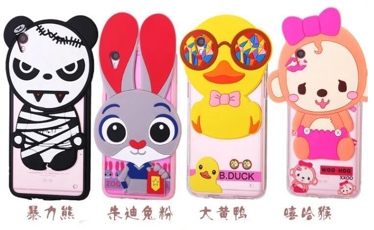 Cartoon Silicon Phone Case of iPhone, Vivo, Oppo, Xiaomi Redmi, Letv Use