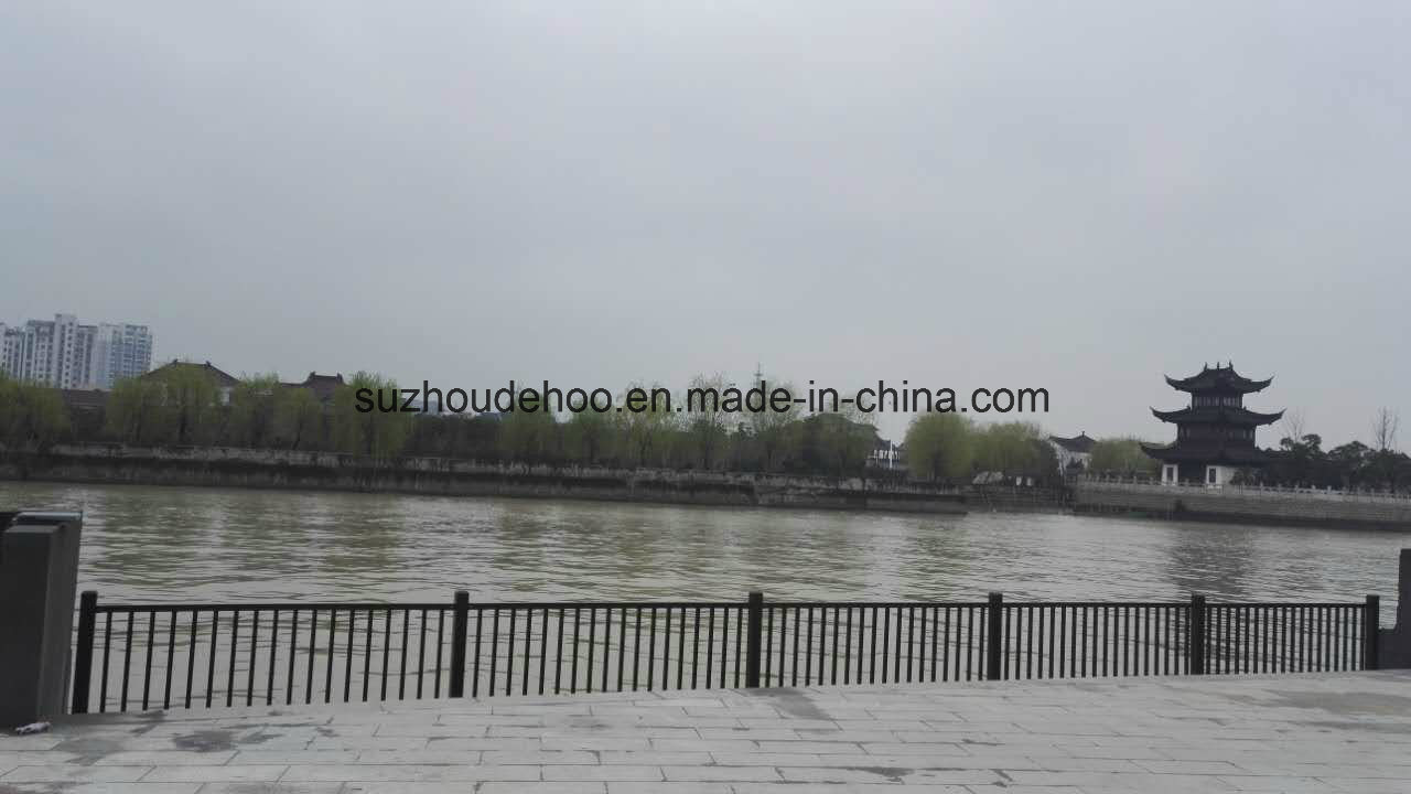 Hot Sales Powder Coated Flat Top Steel Fencing High Decorative, Ornaments, Galvanized Steel