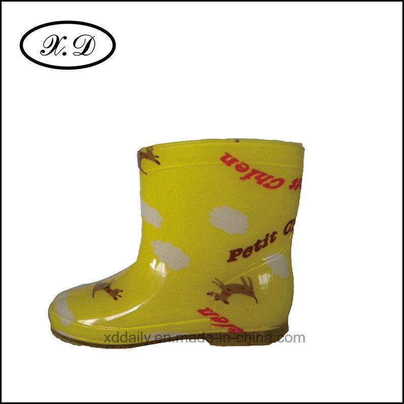Fashion Rain Boots PVC Boots for Kid′s