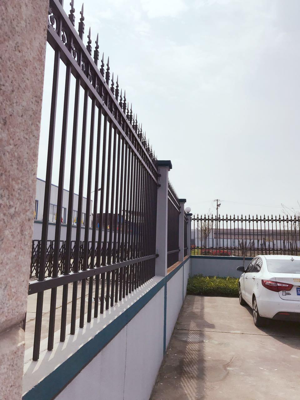 Metal Privacy Galvanized Black Powder Coated Garden Fence