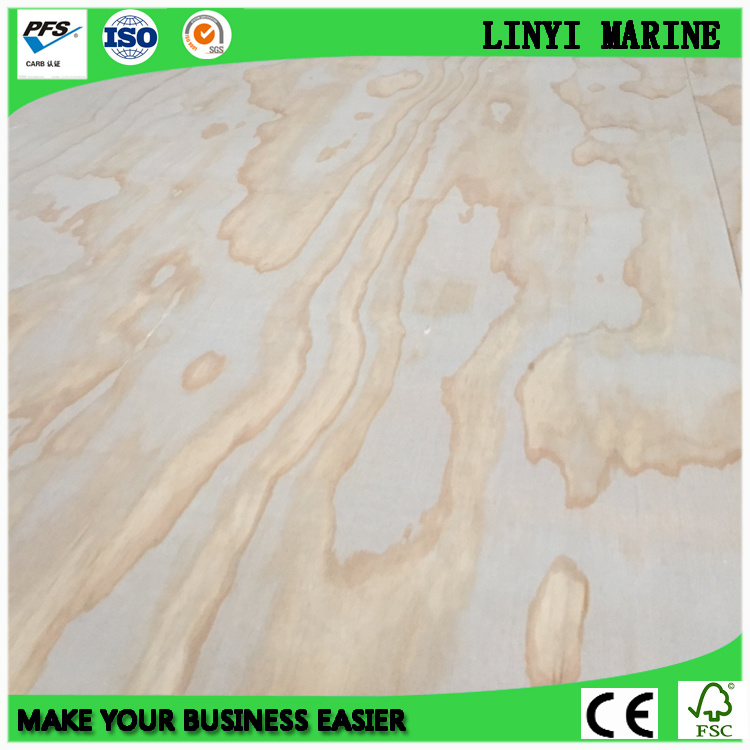 Radiate Pine Face and Back BB/CC Grade Poplar Core Plywood