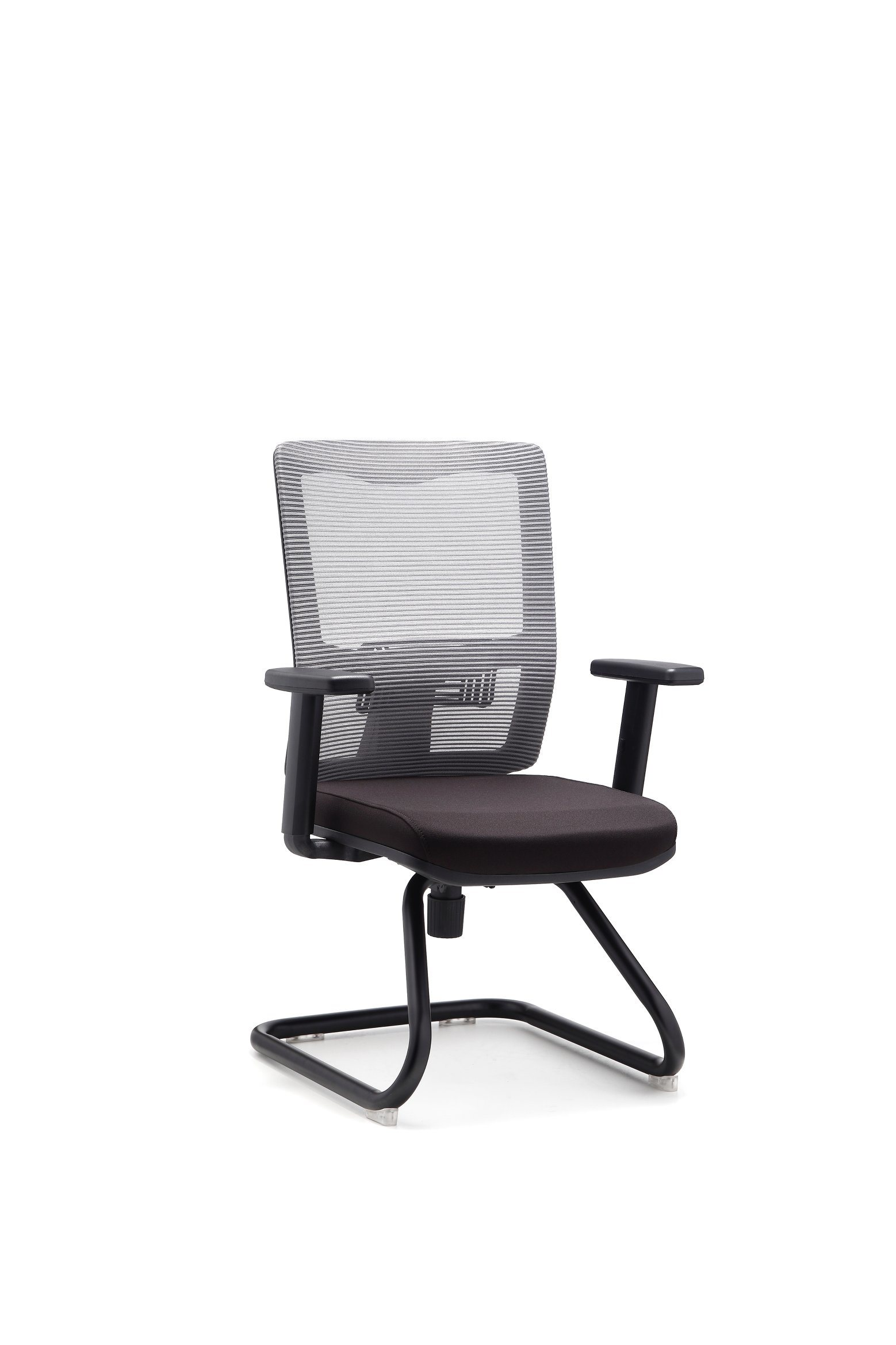 Gray Mesh Conference Chair Without Wheels (FOH-X2BB-1)