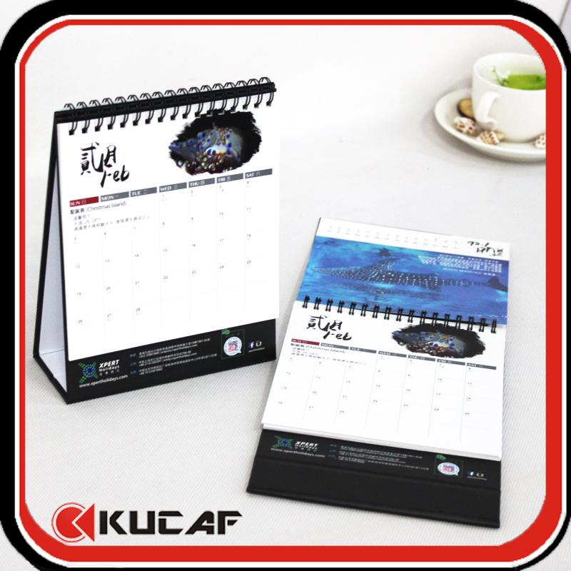 Custom Spiral Advertising Desk Calendar 2018 Printing