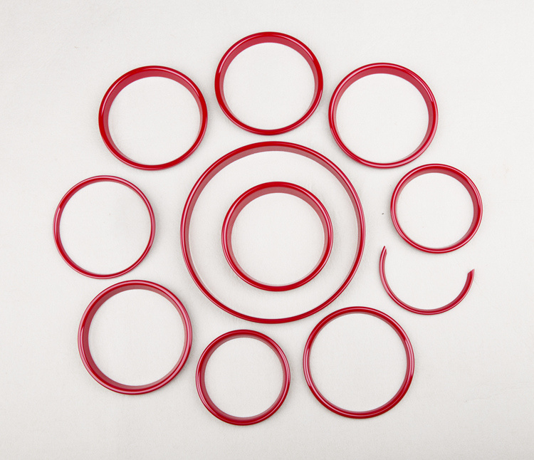 Accessories Interior Rings Red Color Mini Cooper F56 (11 PCS/Set)