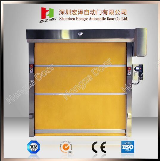 Factory Price Poly Carbonate PVC Curtain Industrial Large Rapid Rolling High Speed Door (HZFC001)
