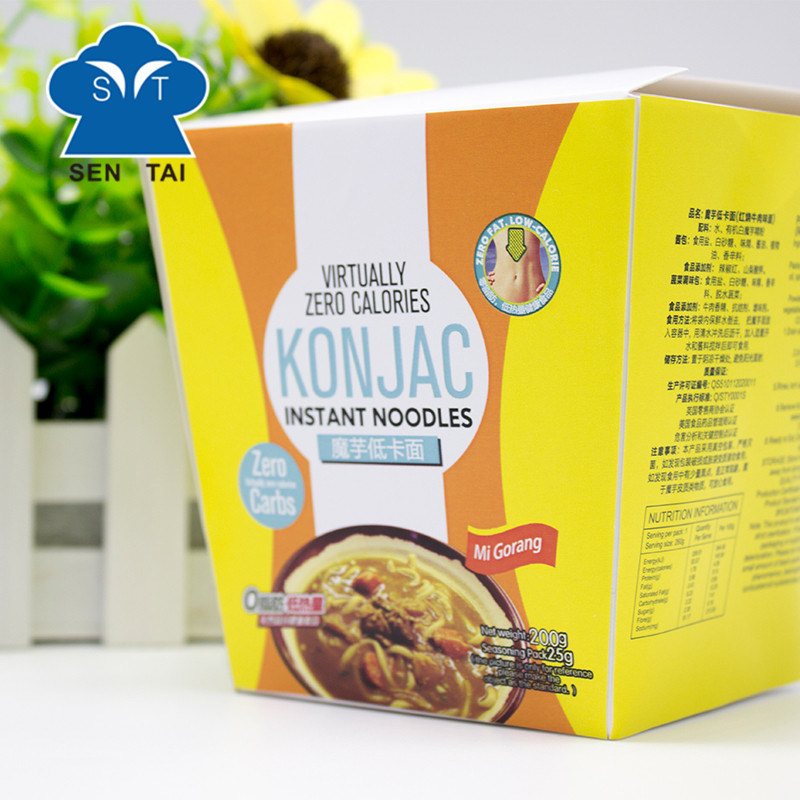 Wholesale 100% Natural Low Calorie Gluten Free Instant Konjac Noodles