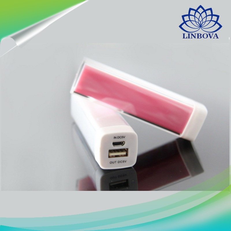 OEM Plastic Pipe Lipstick Power Bank 2600mAh
