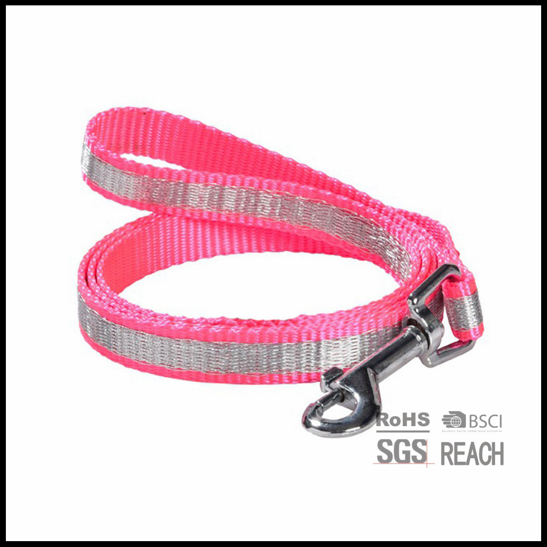 Nylon Material Dog Leash with Reflective Rabric