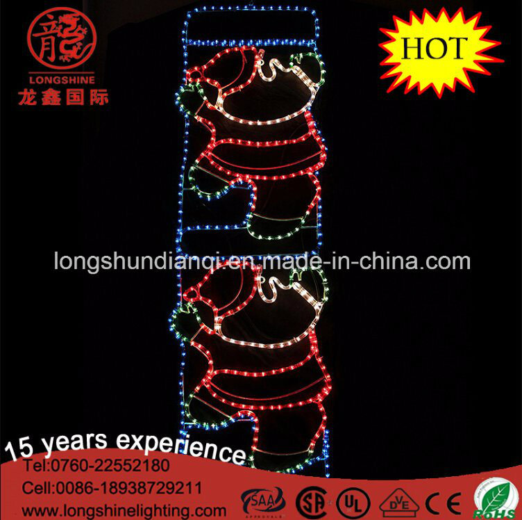 LED Christmas Santa Claus on Ladder Rope Motif Lights Christmas Lights for Yard Decoration