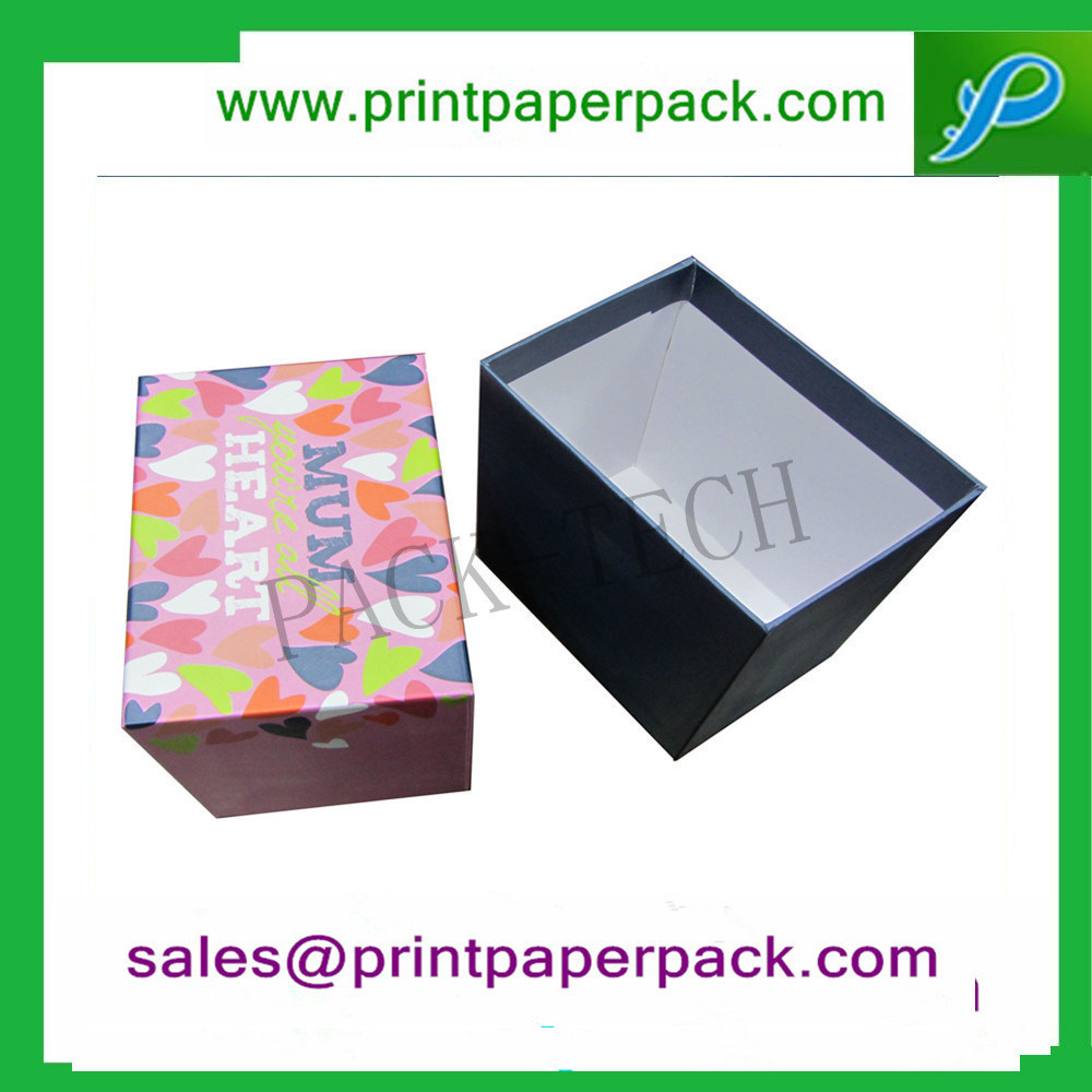 Customized Cardboard Ribbon Cosmetic Foldable Packaging Box Chocolate Cake Perfume Jewelry Paper Gift Packing Box