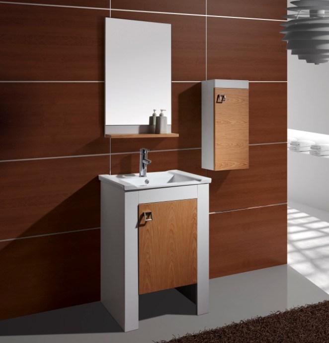 China Single Sink Bathroom Vanity Cherry Wood Bathroom