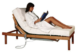 Electric Adjustable Beds with Slat Birch Wood (COMFORT810)