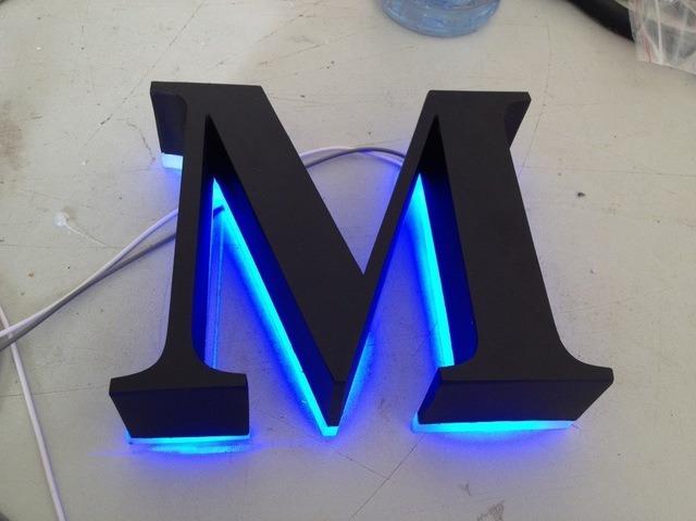 Advertising Customized Polished Brushed Vintage Metal Backlit Signage Letters LED 3D Illuminated Channel Letters Signs
