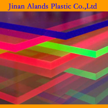 Fluorescent Colors Cast Acrylic PMMA Sheets