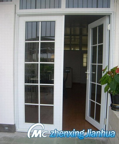 PVC Casement Door with Grid