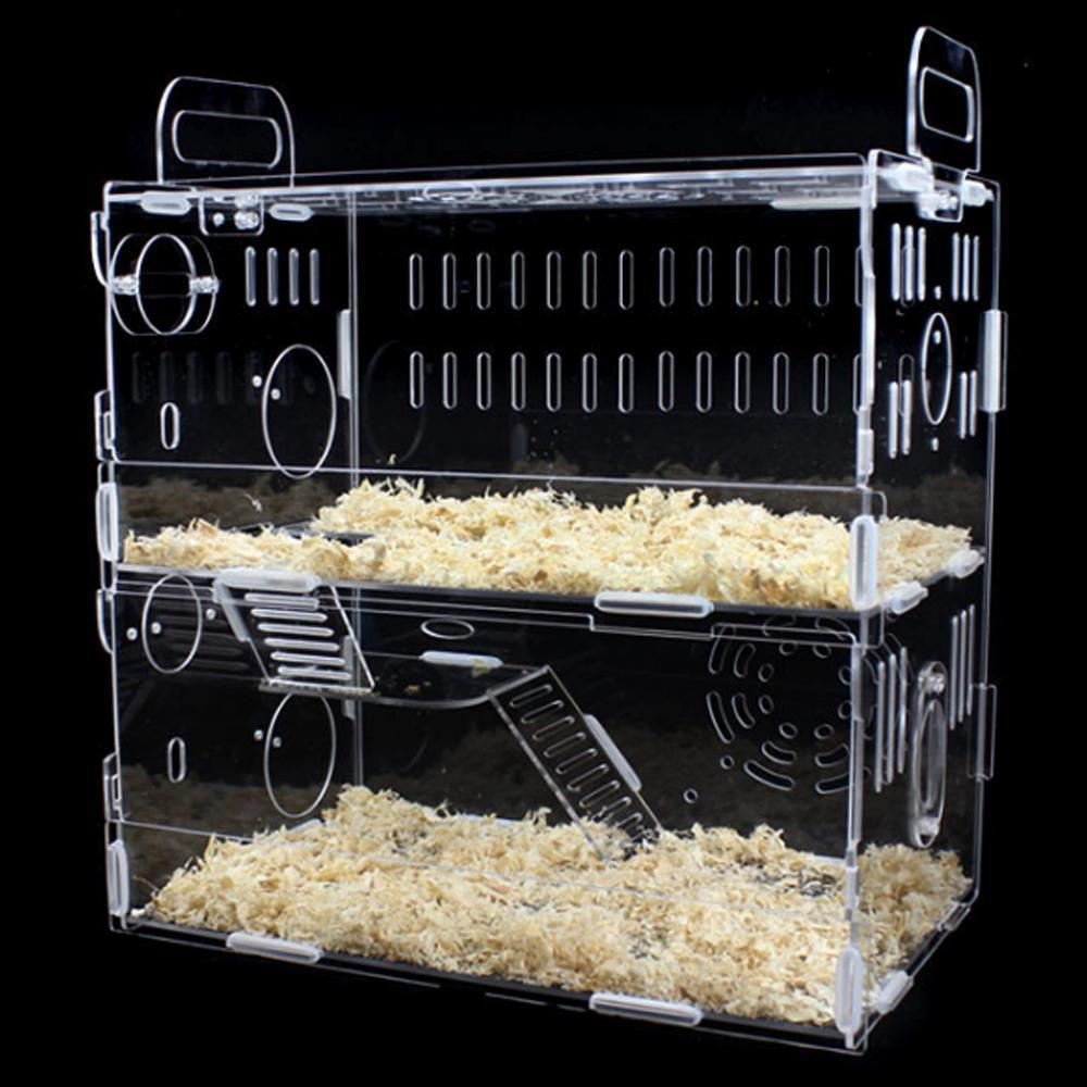 Customized Acrylic Pet House Acrylic Reptile Box Hamster Cage