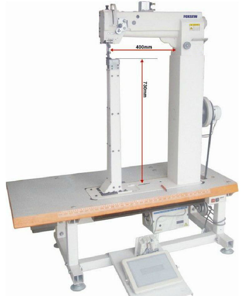 Super High Post Bed Triple Feed Sewing Machine