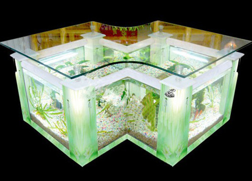 Acrylic Table Fish Tank/Glass Tea Table Aquarium/Polygonal Fish ...