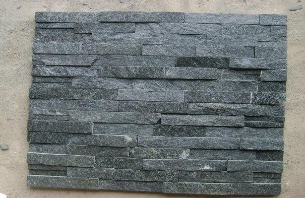 Quartz Stone Veneer : China slate panel stone veneer black quartz